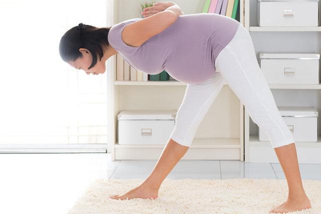 bending when pregnant