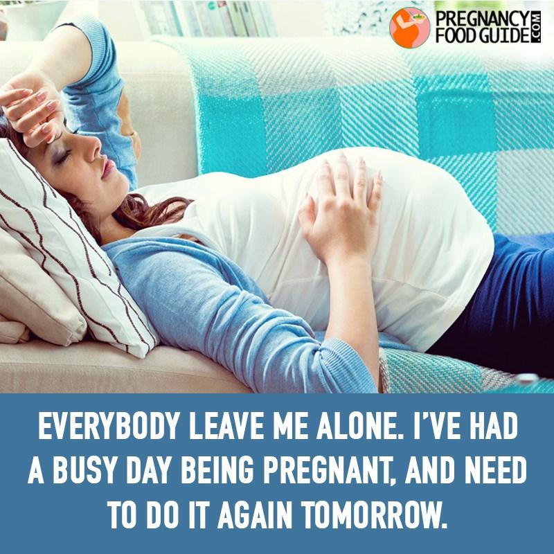 busy day pregnancy