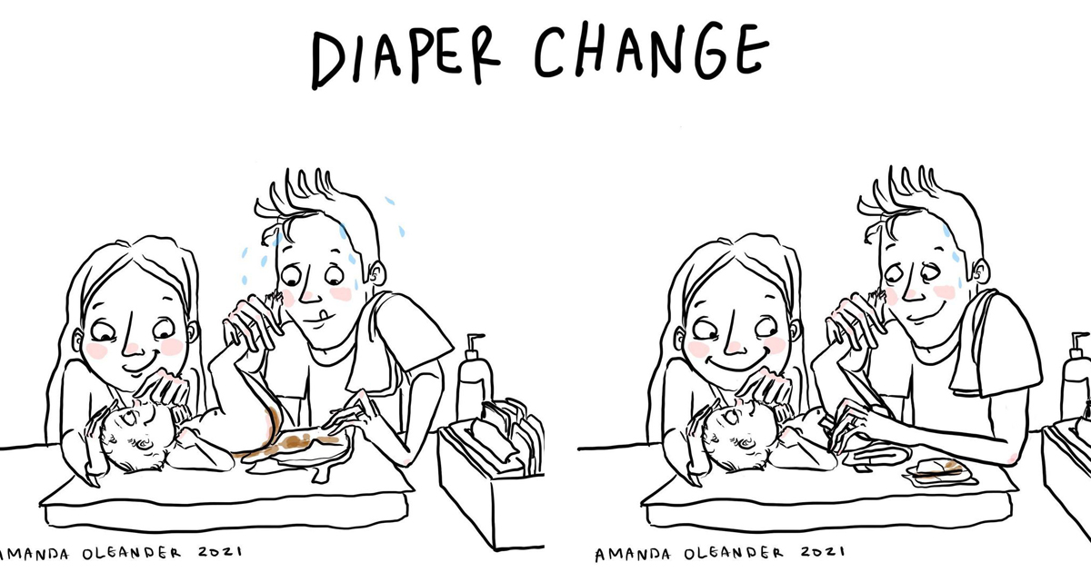 diaper change
