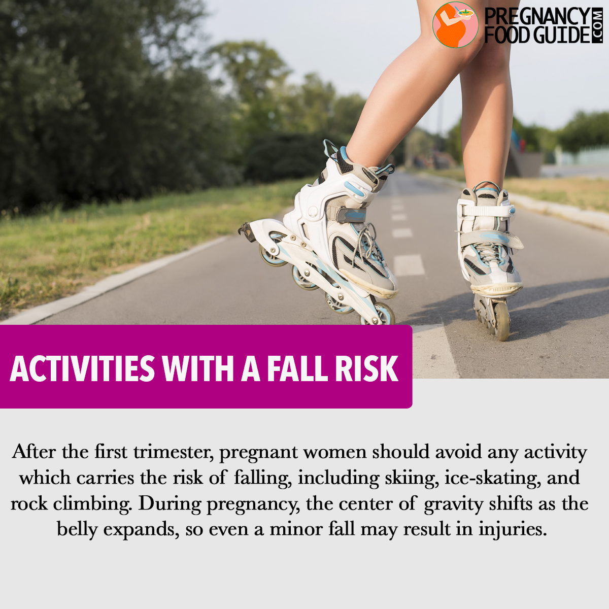 Activities with a fall risk