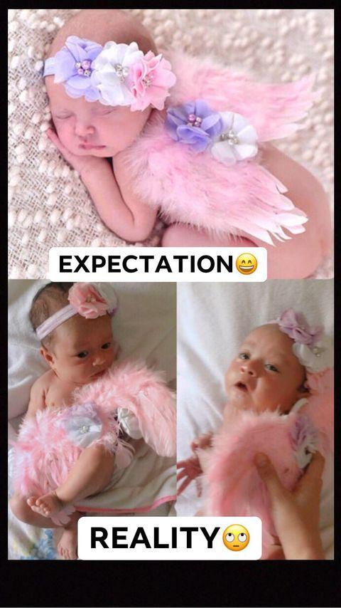 Baby Photoshoot Expectation VS Reality