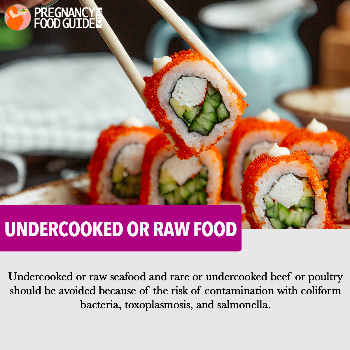 Undercooked or raw food
