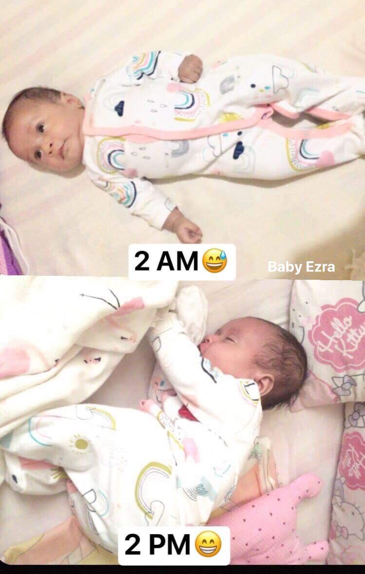 baby at 2 am vs 2 pm