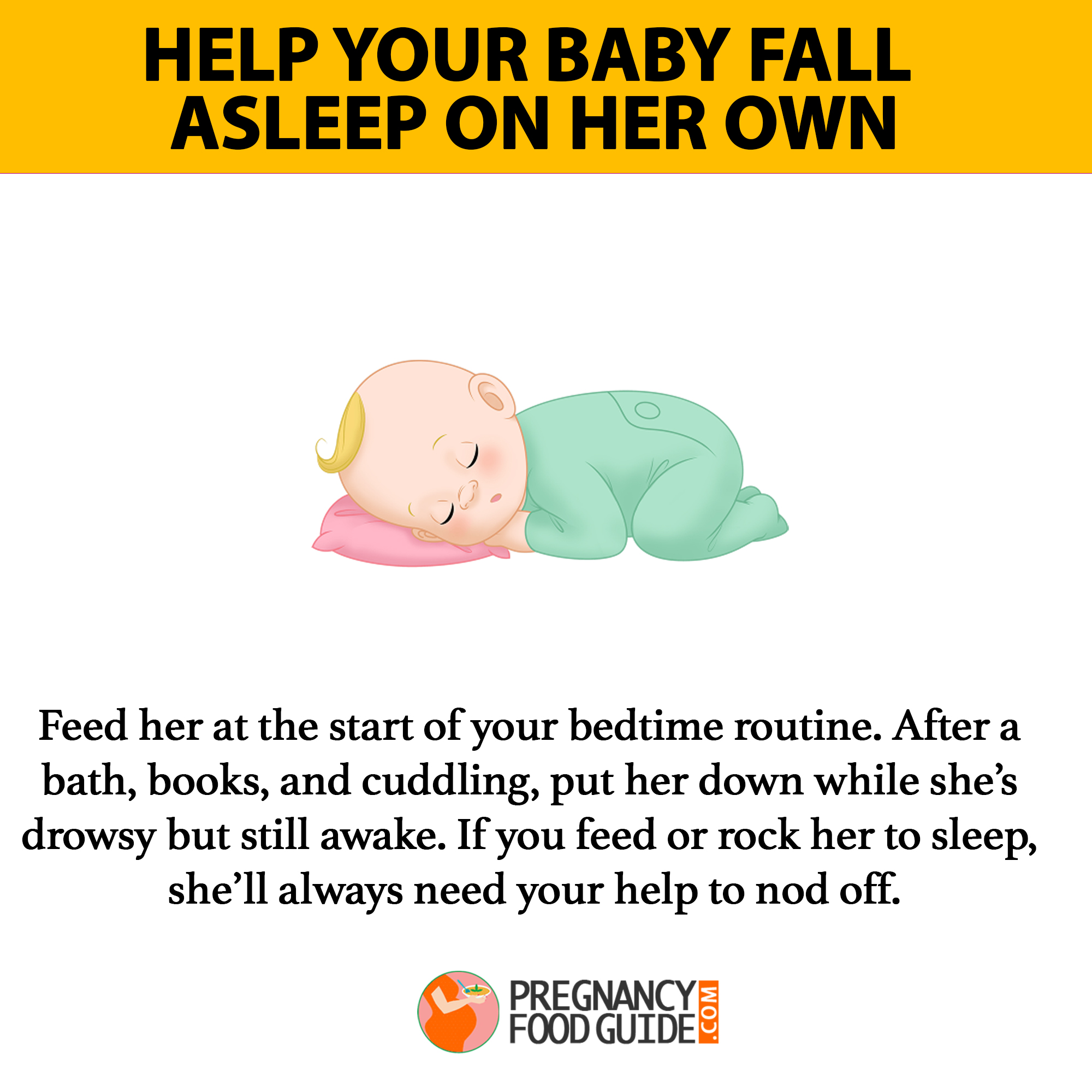 help baby sleep on own