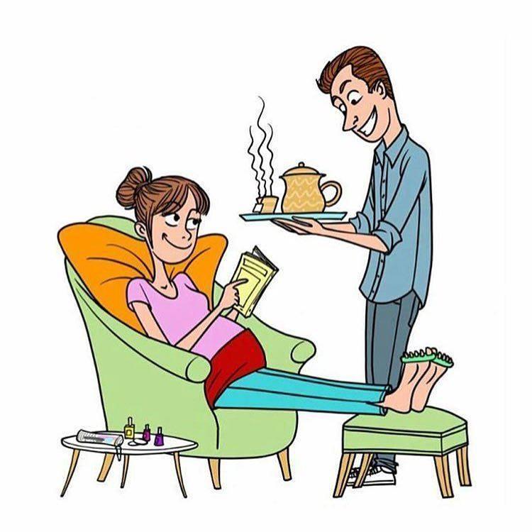 husband caring pregnant wife