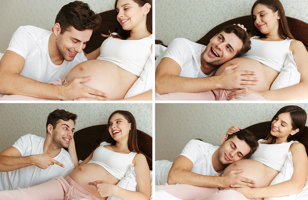 husband with pregnant wife