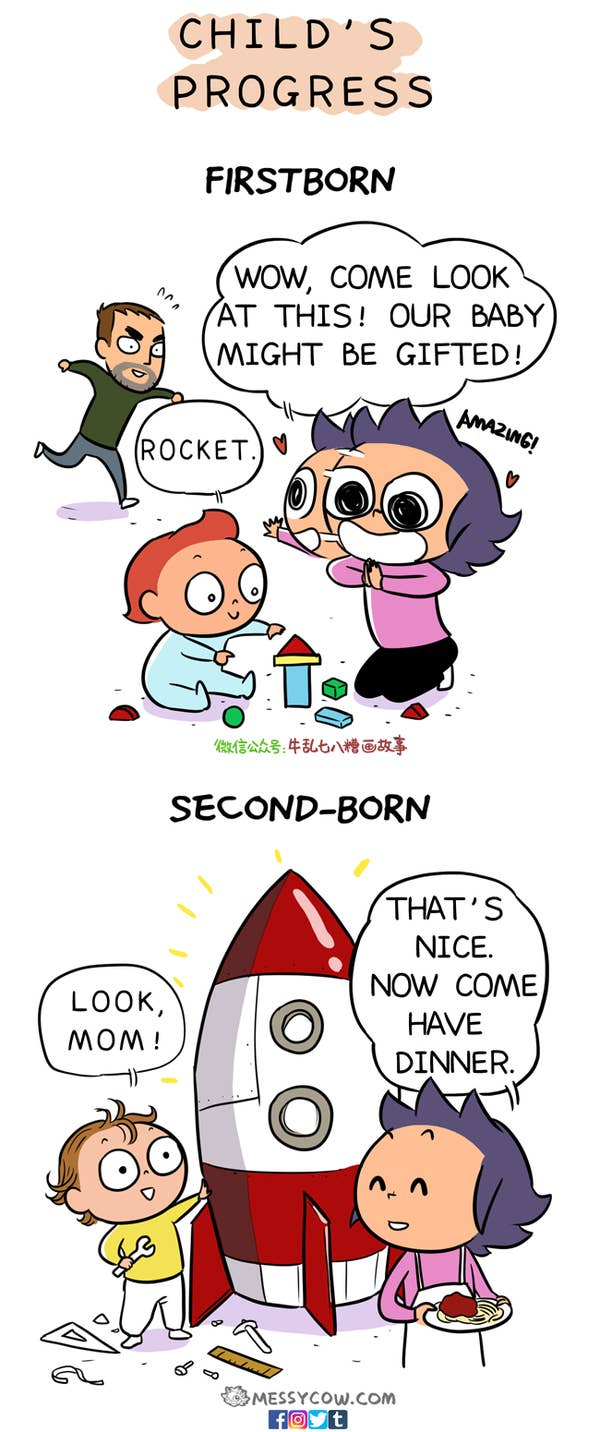 progress first and second kid