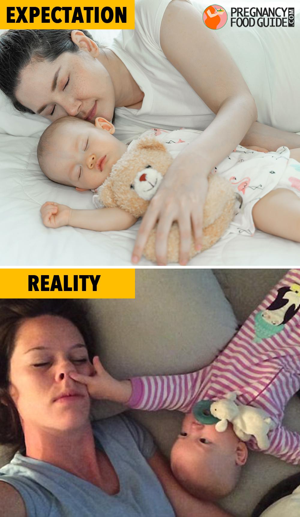 sleeping with baby