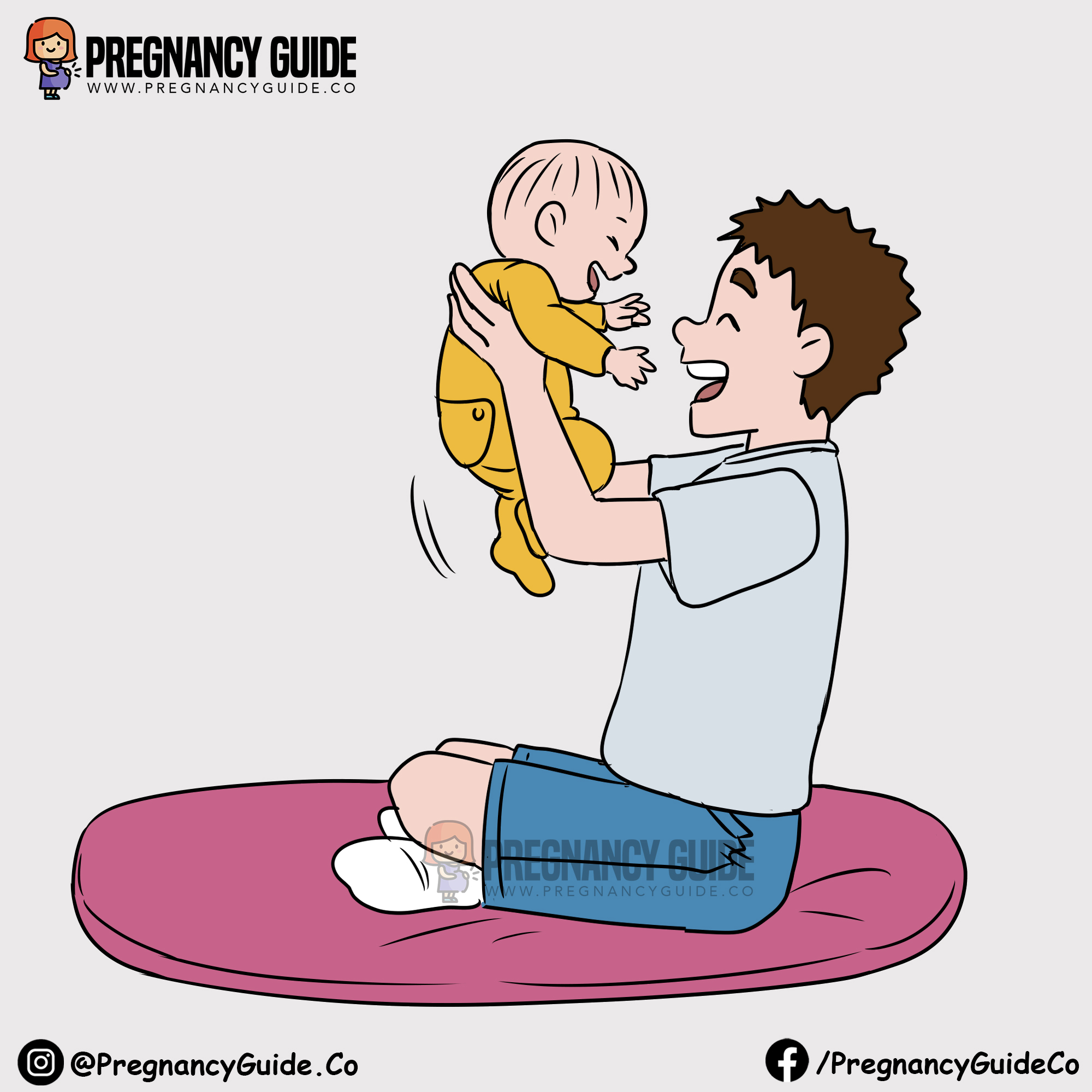 dad play with baby